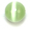 "Cat Eye Beads 8mm Round Green Strand 16"" Fibre Optic"